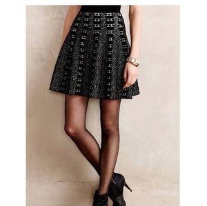 Moth Anthropologie Knit High waisted Skater skirt